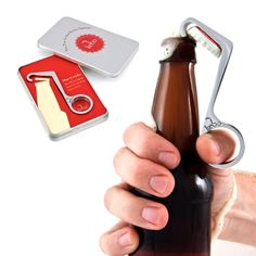 Take all the fuss out of opening bottles with this one-handed bottle opener from KEBO - great for parties or for a hostess gift!