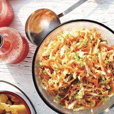 Kimchee coleslaw recipe - Chatelaine.com - watch the sriacha if serving to kids.
