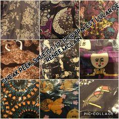 Sneak peek! #lularoe sale in my VIP GROUP 1-17-17 8pm EST!  links in bio! see you there 😍 #lularoefashionconsultant #lularoe_renee_mclain #lularoeleggings
