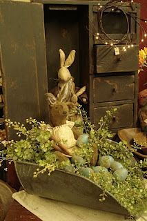 Bunnies in a large scoop for an arrangement