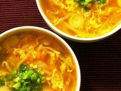 もやしとキムチとタマゴのおかずスープの画像 Thai Red Curry, Ramen, Dinner, Ethnic Recipes, Food, Suppers, Essen, Yemek, Windows