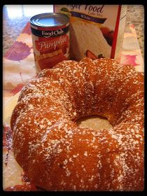 cookin' up north: Low fat Pumpkin Angel Food Cake...pinned it and tried it