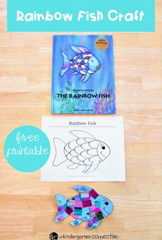 """Rainbow Fish Craft - The Kindergarten Connection - This rainbow fish craft is the perfect companion to the beloved book """"The Rainbow Fish. The Rainbow Fish, Rainbow Fish Template, Rainbow Fish Crafts, Rainbow Art, Rainbow Fish Activities, Easy Arts And Crafts, Arts And Crafts House, Arts And Crafts Projects, Arts And Crafts Supplies"""