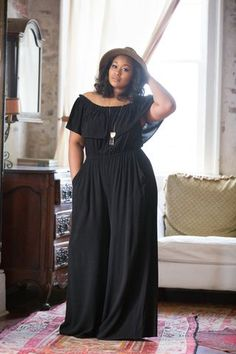 Combi pantalon Top Bardot www.rencontres-ro… (notitle) Combi pantalon Top Bardot www. Dress Plus Size, Plus Size Jumpsuit, Plus Size Outfits, Black Jumpsuit, Plus Size Fashions, Plus Size Fashion Dresses, Curvy Girl Fashion, Look Fashion, Plus Fashion