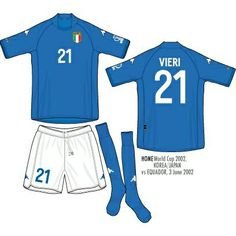 Italy home kit for the 2002 World Cup Finals.