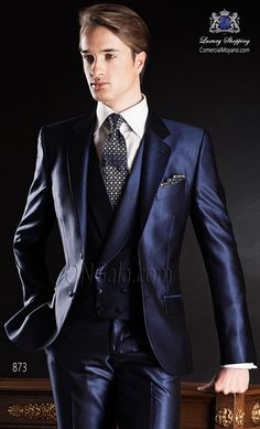 Traje de novio azul 873 ONGala Wedding suit