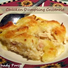 Amish Chicken and Dumpling Casserole. tastes just like a 'pot' of chicken and dumplings, just not as juicy. This recipe could serve 8 adults along with a veggie. Chicken Dumpling Casserole, Casserole Dishes, Chicken Dumplings, Chicken Soup, Rotisserie Chicken, Boneless Chicken, Recipe Chicken, Cream Chicken, Oven Chicken