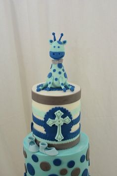 Giraffe Baby Christening Cake- Love this cake but maybe a smaller version