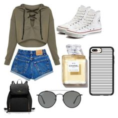 """Untitled #21"" by softball1042 on Polyvore featuring Converse, Ray-Ban and Casetify"