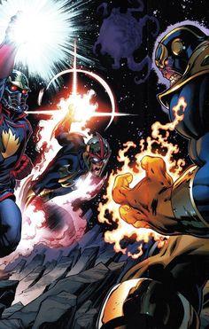 Thanos vs. Nova & O Senhor das Estrelas.