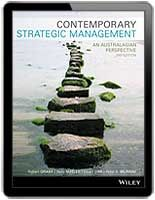 Contemporary Strategic Management An Australasian Perspective 2nd Edition is an indispensable resource for Australasian business students   $55