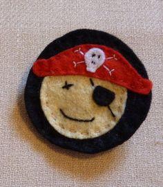 Felt Pirate Badge by FudgeandPoppy on Etsy, £4.00