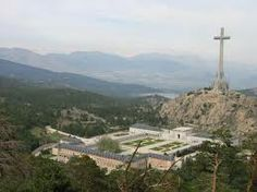 Valle de la Caidos, Valley of the Fallen, north of Madrid. The cross is over 150 meters tall and is visible from 20 miles away.