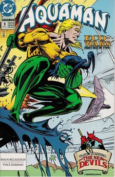 Aquaman 9  August 1992 issue  DC Comics  Grade NM