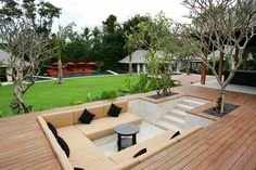 outdoor sunken lounge - Google Search