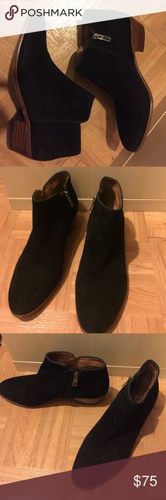 """Sam Edelman """"Petty"""" Chelsea Boot Black Suede Sam Edelman black suede """"Petty"""" Chelsea boot. Hardly worn. Like new. Sam Edelman Shoes Ankle Boots & Booties"""