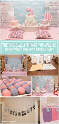 """Create a memorable 1st birthday party based on the book """"Wonderful Things You Will Be."""" Personalized invitation available with matching party printables. #firstbirthday #partytheme #1stbirthdayparty"""