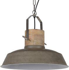 Casa-bella.nl - Hanglamp Loreto 34 cm - cement + witte binnenzijde