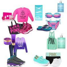Love Pink Victoria Secret products minus the high tops maybe some moccasins or toms Pink Outfits, Summer Outfits, Cute Outfits, Victoria Secret Outfits, Victoria Secrets, Pink Brand, Everything Pink, Vs Pink, Victoria's Secret Pink