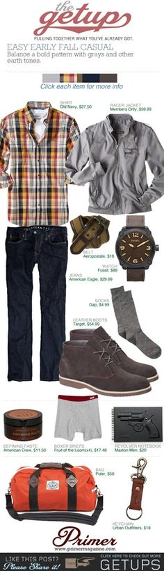 The Getup: Easy Early Fall Casual   Primer