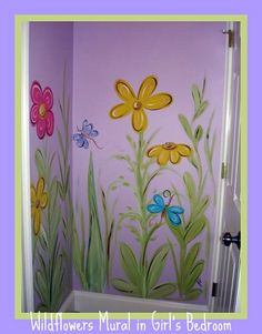 Wildflowers Mural in Girl's Bedroom by newberndawn, via Flickr