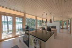 Galleria_etusivun_stack — Plushuvilat Summer Cabins, Villa, Cabins In The Woods, Home Living Room, Interior Inspiration, Building A House, Beach House, New Homes, Cottage