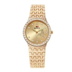 Women's Watches Clock Flower Rhinestone Butterfly Female Exquisite Casual Fashion New-Wholesale Cheap Watches Online Cheap Watches, Casual Watches, Women's Watches, Clock Flower, Gold Rhinestone, Fashion Watches, Gold Watch, Watch Bands, Bracelet Watch