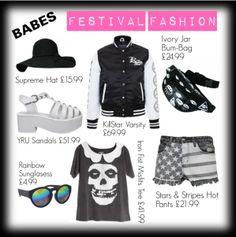 summer festival clothing for babes, it is different pieces summer clothing that does complement each other and might make you have an unique style