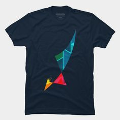 Fallen Angel T Shirt By SOMZEE Design By Humans. Vintage Retro Best Abstract Geometric T-Shirt (Tees). Also the design in good for Geometric tattoo design inspiration. Absolutely one of the best and coolest street apparels.