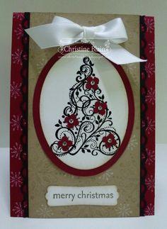 love the tree stamp... Snow Swirled stamp set