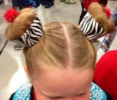 Crazy Hair Ideas for Secret Keeper Girl Crazy Hair For Kids, Crazy Hair Day At School, Crazy Hair Days, Little Girl Hairstyles, Bun Hairstyles, Children Hairstyles, Girls Hairdos, Nude Makeup, Hair Makeup