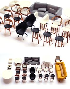 Chalk Studios - design and model making agency Modern Dollhouse Furniture, Tiny Furniture, Barbie Furniture, Miniature Furniture, Furniture Design, Furniture Making, 3d Printed Fabric, 3d Printed House, Printed Shoes