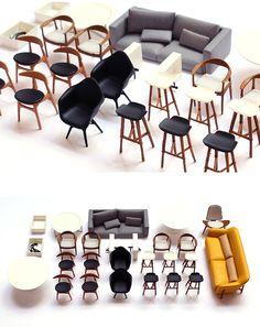 Chalk Studios - design and model making agency Modern Dollhouse Furniture, Tiny Furniture, Barbie Furniture, Miniature Furniture, Furniture Design, Furniture Making, 3d Printed House, 3d Printing Diy, 3d Cnc
