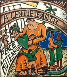 -line -colour -value -space -texture -balance -emphasis -rhythm/movement -variety Space Text, New Zealand Art, Nz Art, Art Diary, Maori Art, Kiwiana, Brown Art, Colour Pattern, Mixed Media Artists