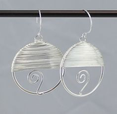 Silver Wire Wrapped Dangle Earrings.  by BlingbyDonna on Etsy, $22.00