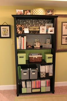 I like the back of the book shelf - with different patterns and colors!  A must do!