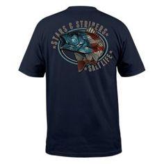 Salt Life Stars and Stripers Pocket T-Shirt for Men - Navy - XL