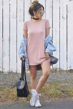 36 Cute Spring Outfit Idea for Teen Fashion Spring Outfits For Teen Girls, Spring Outfits For School, Trendy Outfits For Teens, Simple Fall Outfits, Cute Spring Outfits, Cute Teen Outfits, Teenage Girl Outfits, Winter Outfits, Spring School