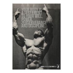 Your Body Is A Testament - Bodybuilding Poster Posters