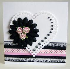 Washi tape card - Wendy Schultz via Petra Harris onto Valentines - Cards/Projects.