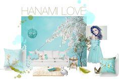 """HANAMI LOVE"" by moni-strigel on Polyvore"
