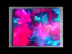 DIY: Melted Crayon Art 2.0 - Abstract Colour Burst ♡ Theeasydiy #ArtForTheNonArtist - YouTube