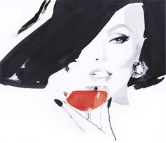Fashion illustration by David Downton