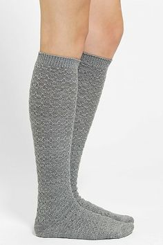 Cozy Cross-Stitch Knee-High Sock