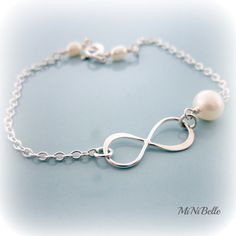 Infinity Bracelet Simple Bracelet Bridesmaids by MiNiBelle on Etsy, $20.00