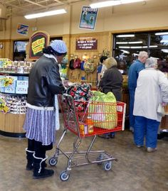 """Woman waiting at register in Trader Joe's."" -Cheryl K. #patience #watchandwait"