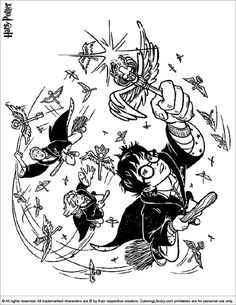Coloring Page Harry Potter And The Order Of Phoenix