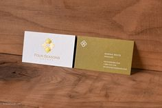 Classic Elegant Premium White Business Card With Gold Foil