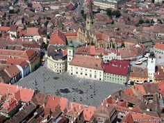 Sibiu, Romania, one of the many places worth visiting. This is the main square of the medieval city, which was Europe's Cultural Capital in Sibiu Romania, Places Worth Visiting, Cultural Capital, Famous Castles, City Break, Oh The Places You'll Go, Continents, Wonderful Places, Paris Skyline