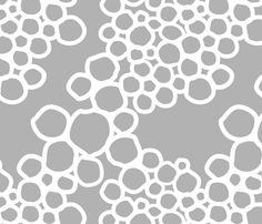 Bubbles - gray fabric by patriciazapata on Spoonflower - custom fabric